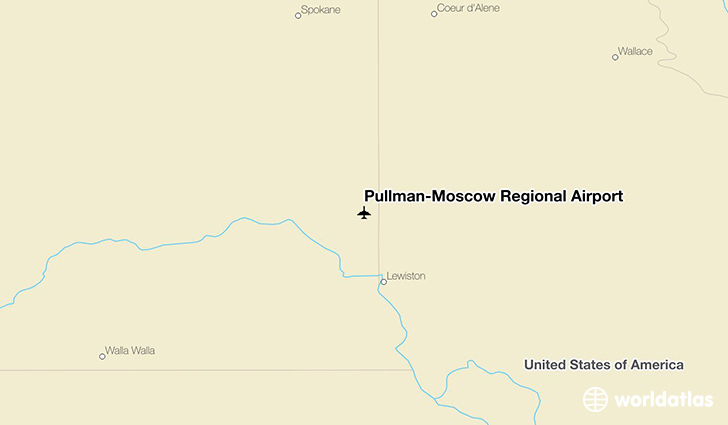 Pullman-Moscow Regional Airport location on a map