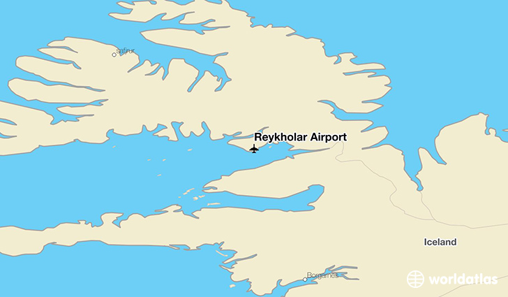Reykhólar Airport location on a map