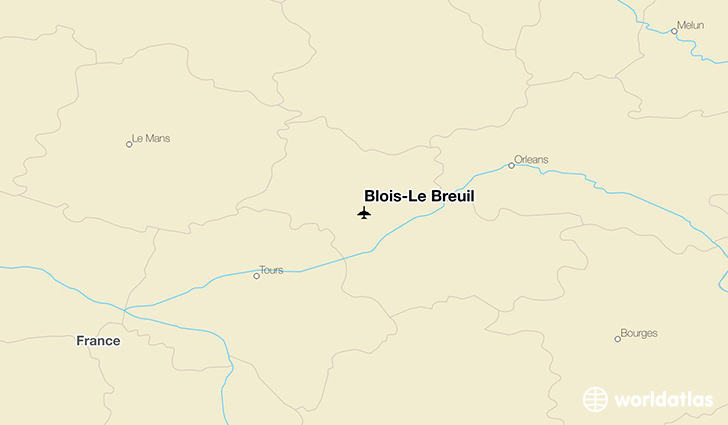 Blois-Le Breuil location on a map