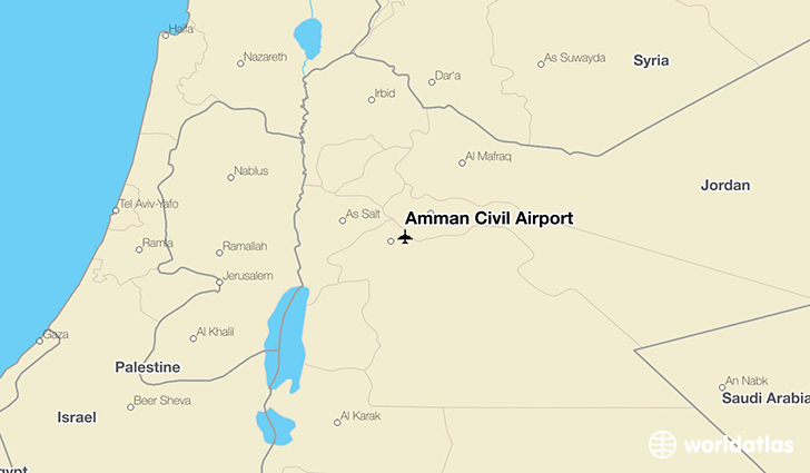 Amman Civil Airport location on a map