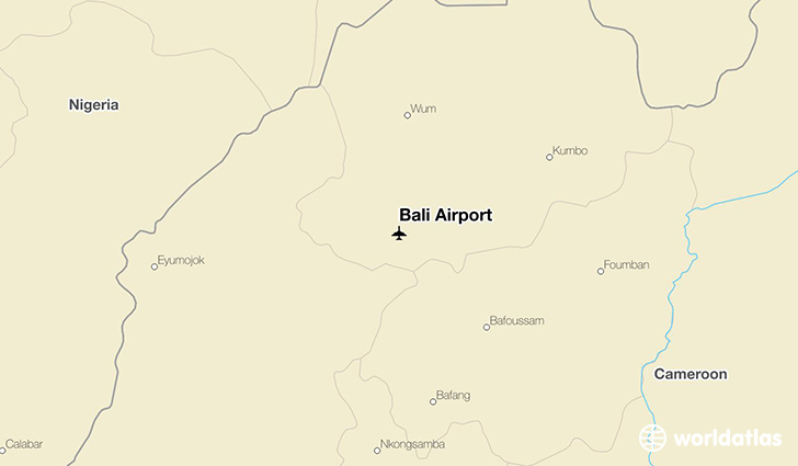 Bali Airport location on a map