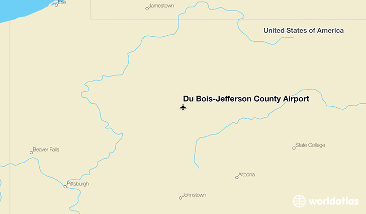 Du Bois-Jefferson County Airport location on a map