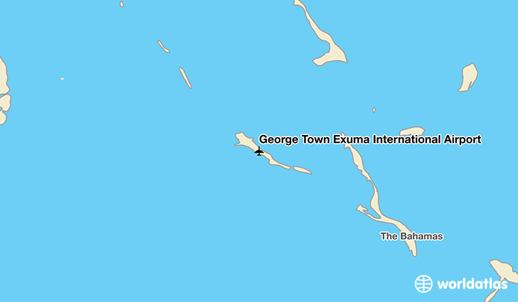 George Town Exuma International Airport location on a map