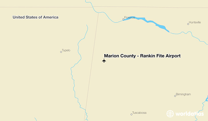 Marion County – Rankin Fite Airport location on a map