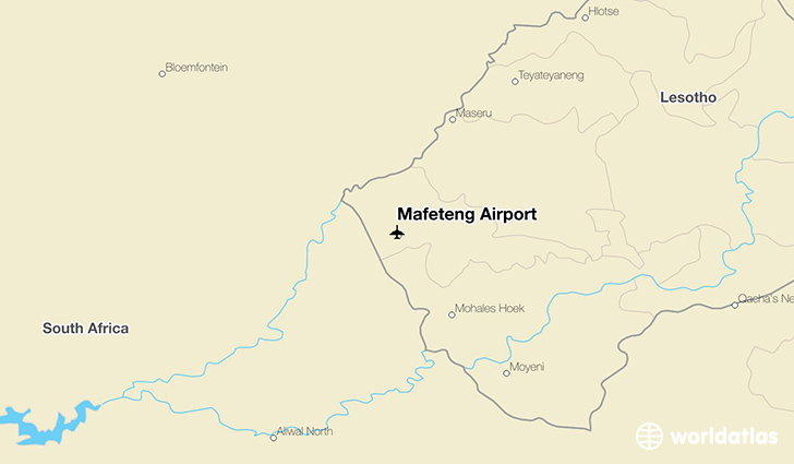 Mafeteng Airport location on a map