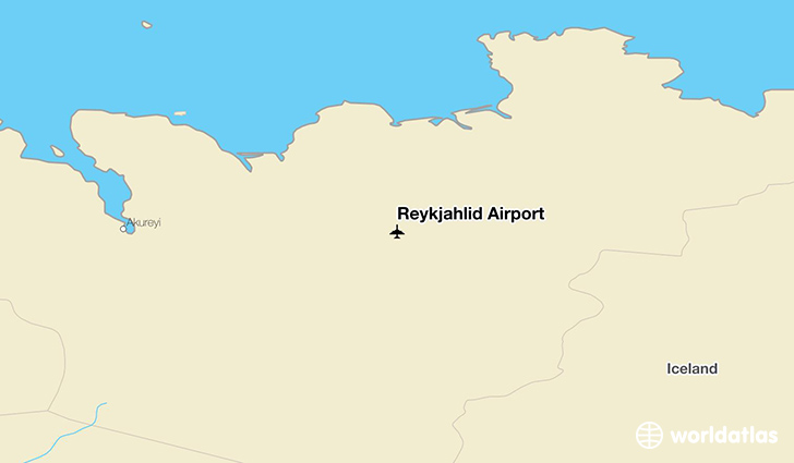 Reykjahlíð Airport location on a map