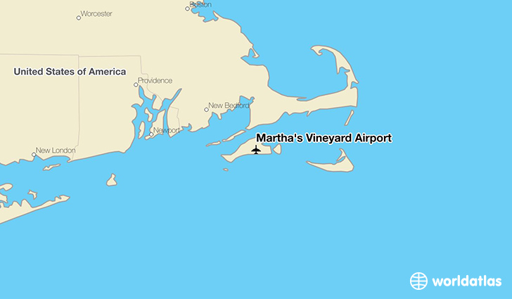 Martha's Vineyard Airport location on a map