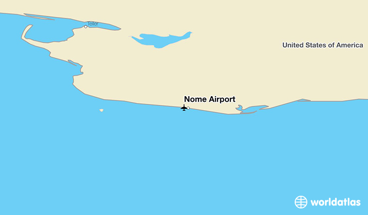 Nome Airport location on a map