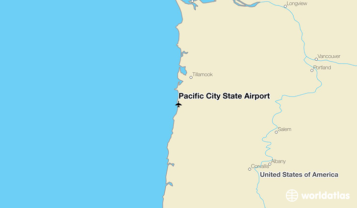 Pacific City State Airport location on a map