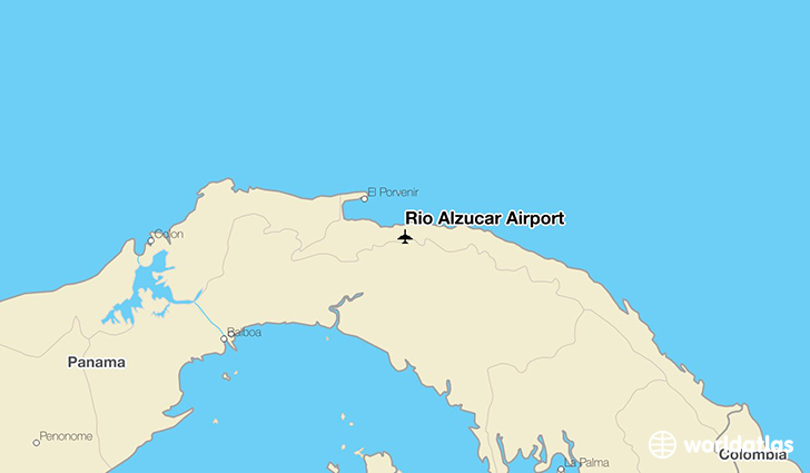 Rio Alzucar Airport location on a map