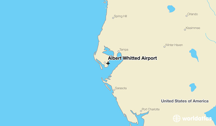 Albert Whitted Airport location on a map