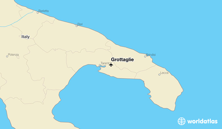 Grottaglie location on a map