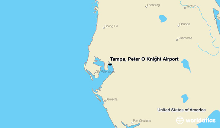 Tampa, Peter O Knight Airport location on a map