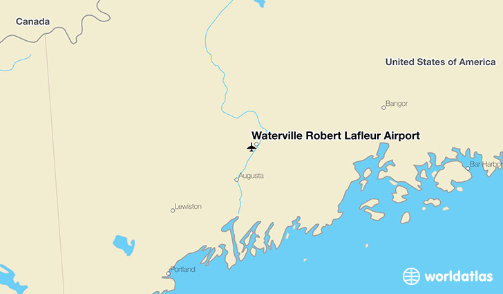 Waterville Robert Lafleur Airport location on a map