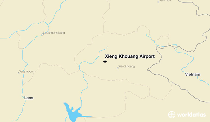 Xieng Khouang Airport location on a map