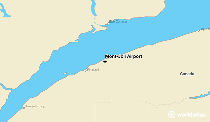 Mont-Joli Airport location on a map