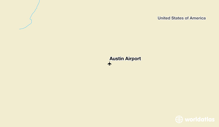 Austin Airport location on a map