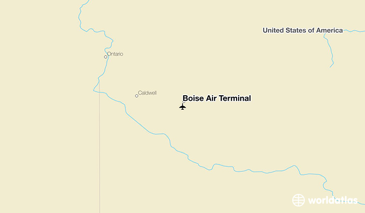Boise Air Terminal location on a map