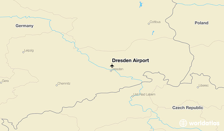 Dresden Airport location on a map