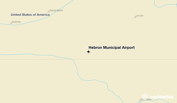 Hebron Municipal Airport location on a map
