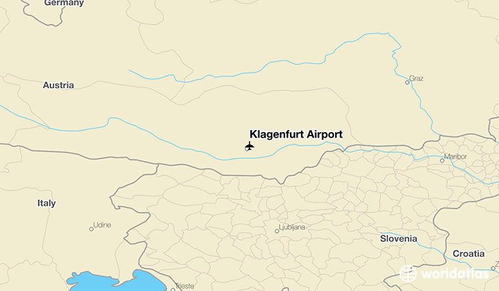 Klagenfurt Airport location on a map