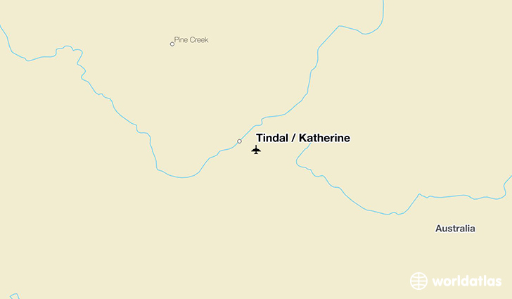 Tindal / Katherine location on a map