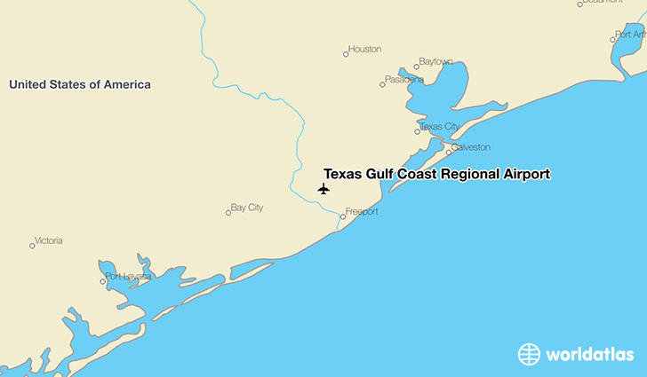 Texas Gulf Coast Regional Airport location on a map