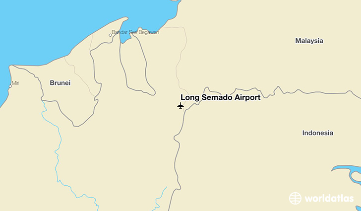 Long Semado Airport location on a map