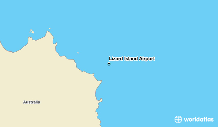 Lizard Island Airport location on a map