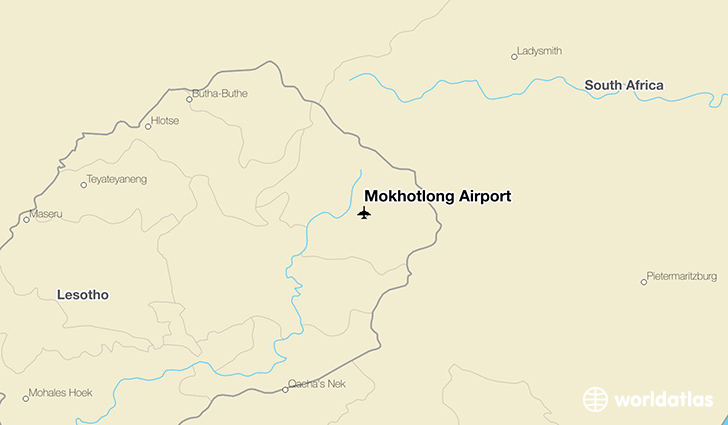 Mokhotlong Airport location on a map