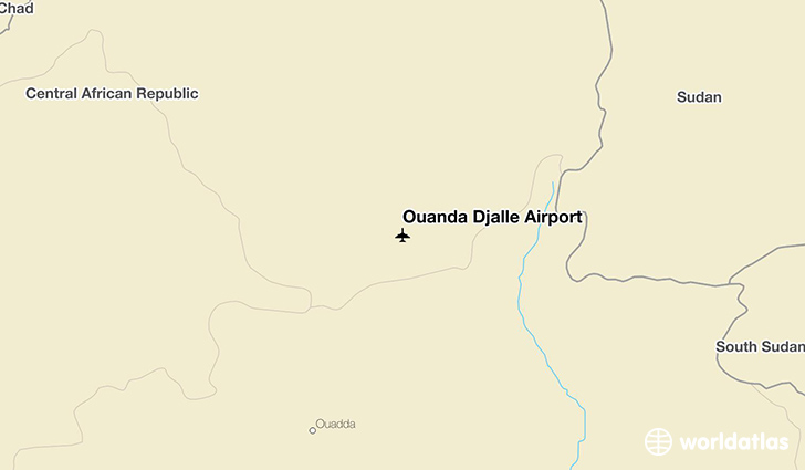 Ouanda Djallé Airport location on a map
