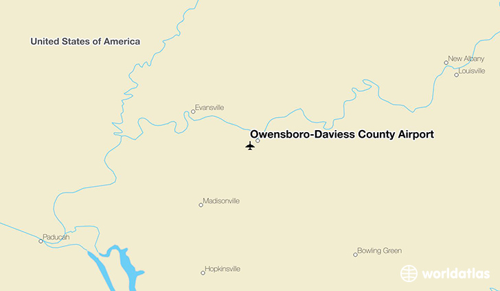 Owensboro-Daviess County Airport location on a map