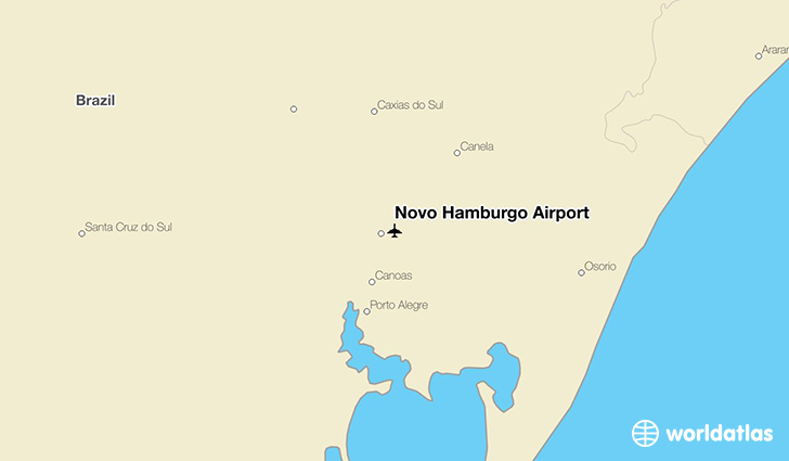 Novo Hamburgo Airport location on a map