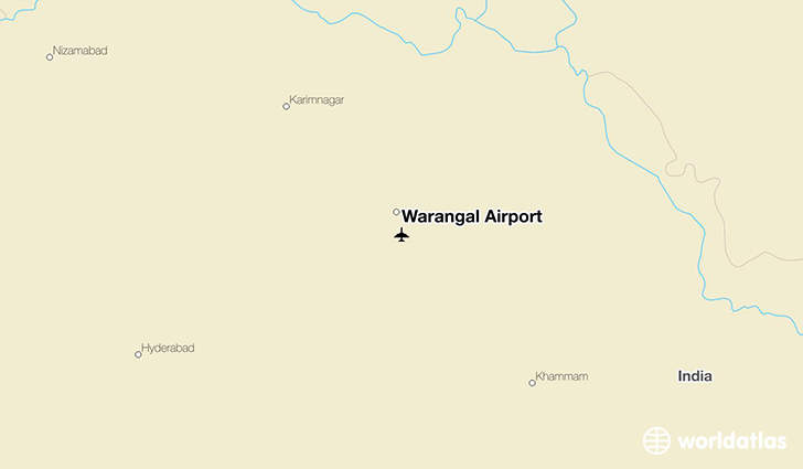 Warangal Airport location on a map