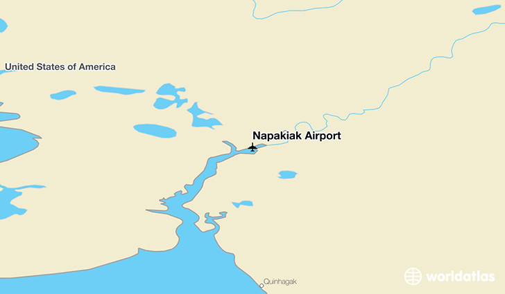 Napakiak Airport location on a map