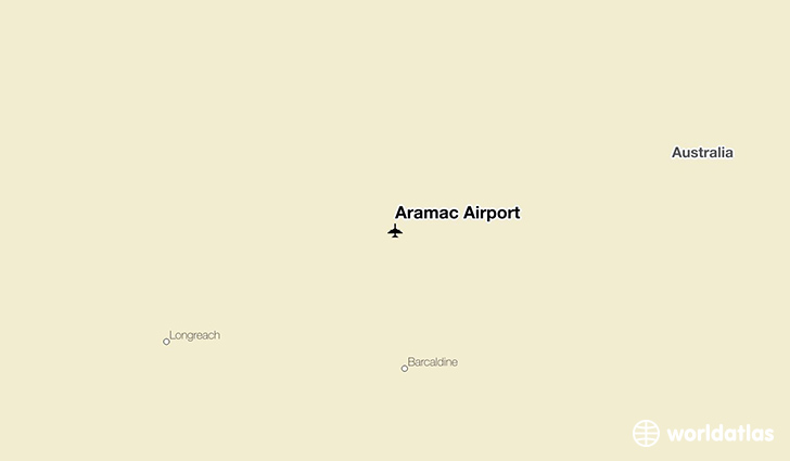 Aramac Airport location on a map
