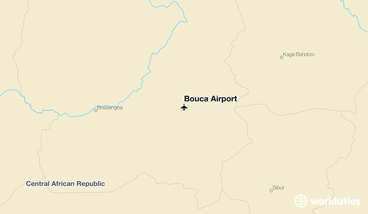 Bouca Airport location on a map