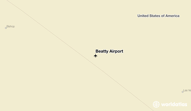 Beatty Airport location on a map