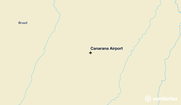 Canarana Airport location on a map
