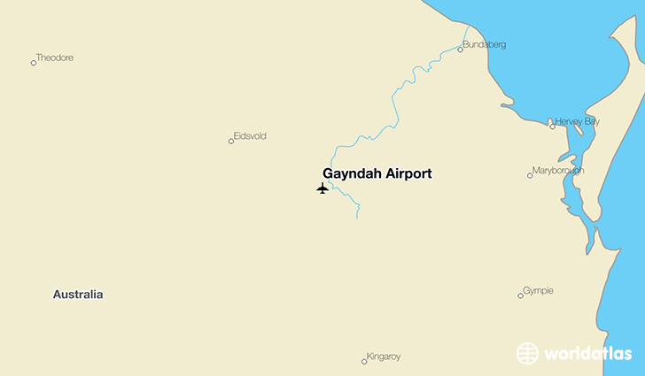 Gayndah Airport location on a map