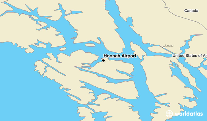 Hoonah Airport location on a map