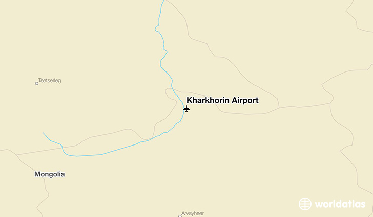 Kharkhorin Airport location on a map