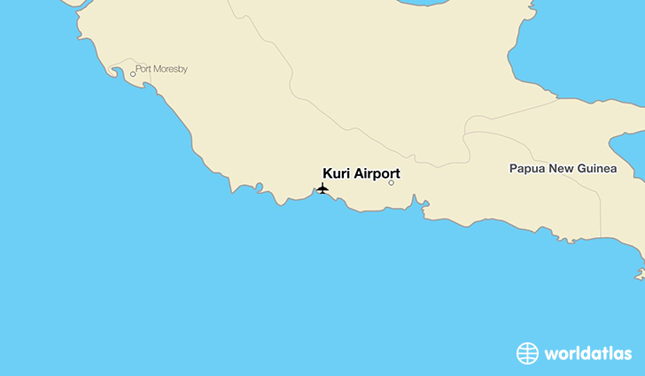 Kuri Airport location on a map