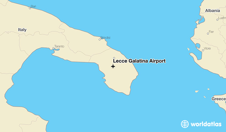 Lecce Galatina Airport location on a map