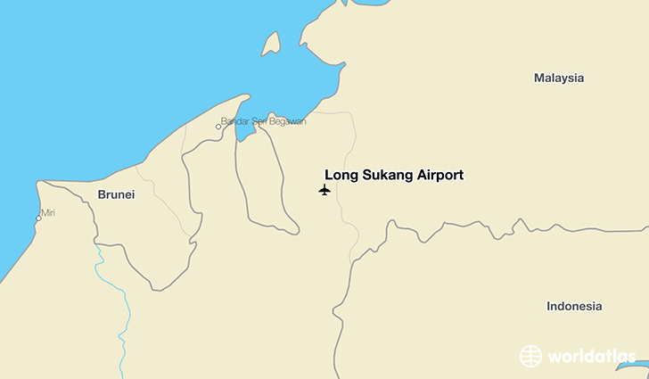 Long Sukang Airport location on a map