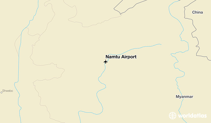 Namtu Airport location on a map