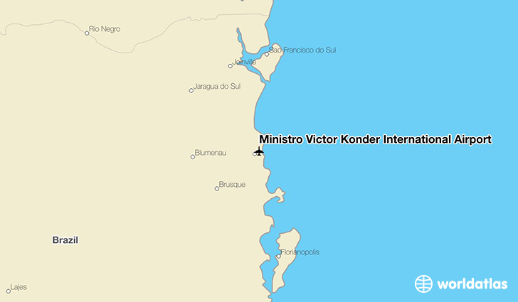 Ministro Victor Konder International Airport location on a map