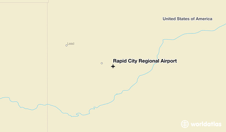 Rapid City Regional Airport location on a map