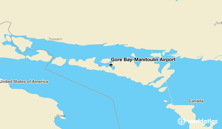 Gore Bay-Manitoulin Airport location on a map
