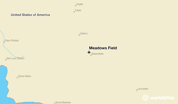 Meadows Field location on a map